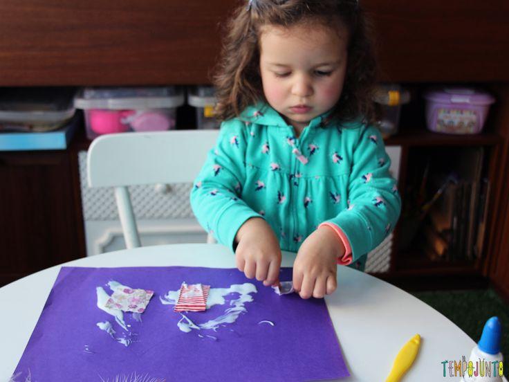 Arte para crianças pequenas colagem - img_6966