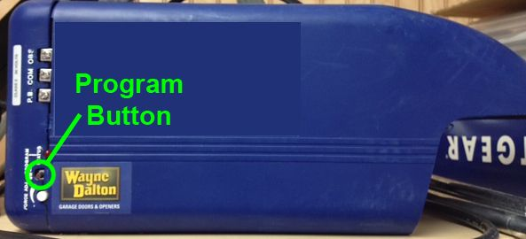 Program Button On A Wayne Dalton Prodrive Classic Drive