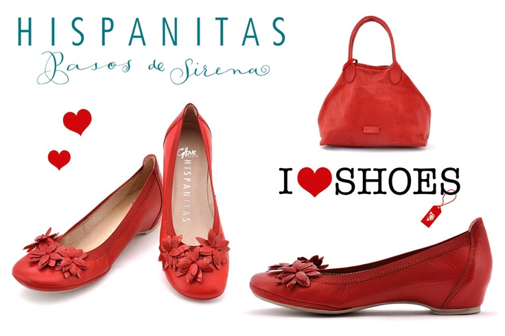 Hispanitas Red Shoes and Handbags