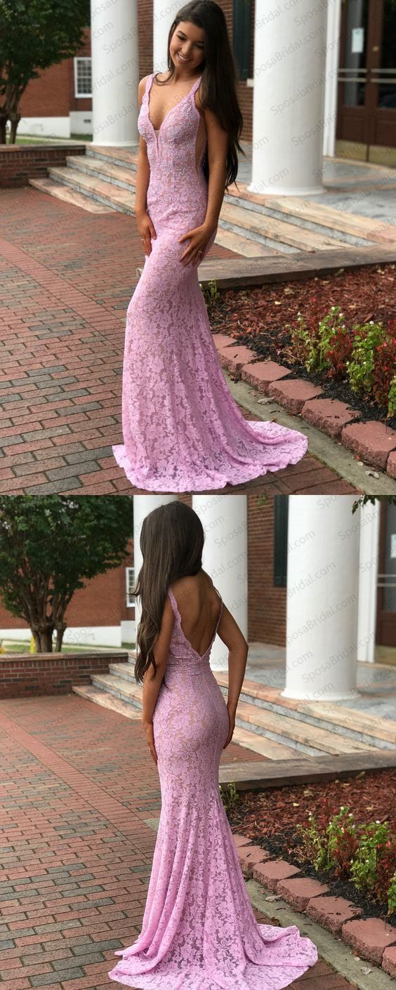 Charming Red Lace Sexy Prom Dress, High Quality Custom Modern Mermaid Prom Dresses, PD0331