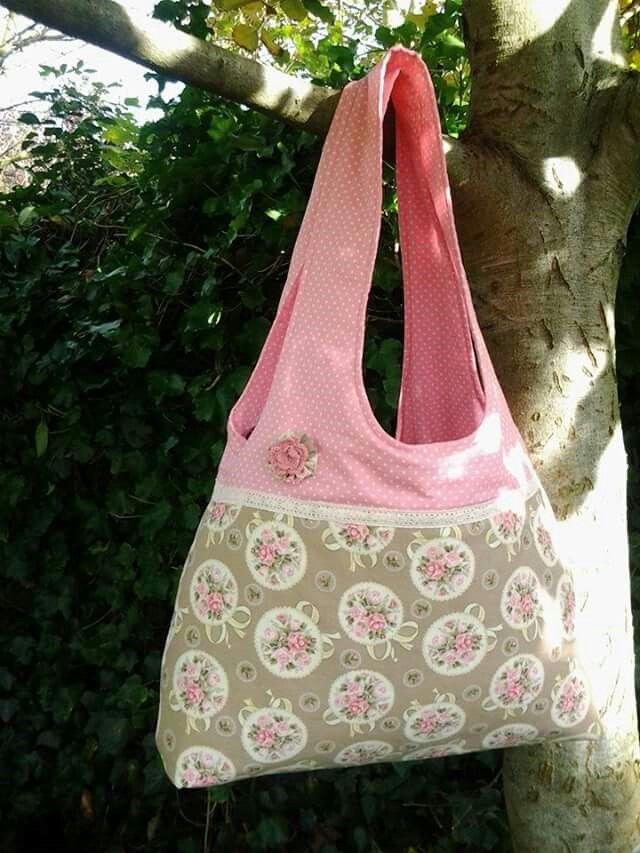 Miss Lilu Shoppertasche von Handmade  by  Miss  Lilu,  Shoppertasche Ebook, Schultertasche, Shabbystyle, nähen