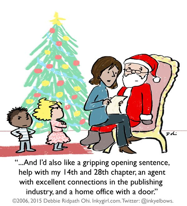 Comic: The Writer and Santa - Inkygirl: Guide For Kidlit/YA Writers & Artists - via @inkyelbows