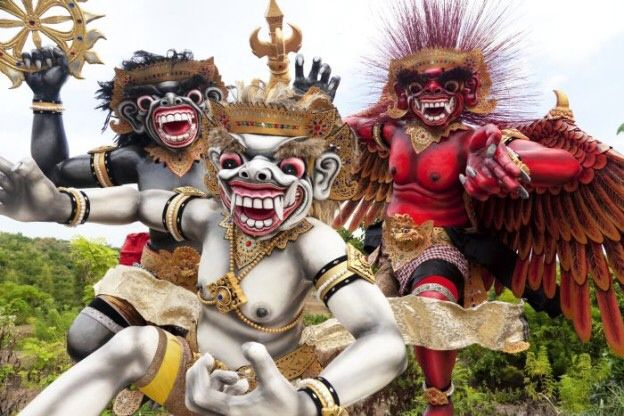 Ogoh Ogoh parade one day before Day of Silence