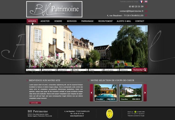Maquette - Site BH Patrimoine à Charolles