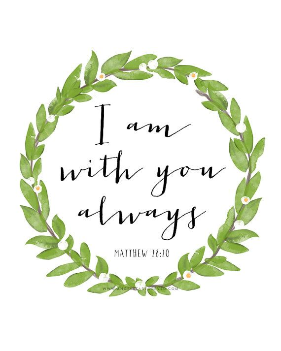 I Am With You  Scripture Bible Quote by TheLoveShopDigital on Etsy, $7.00