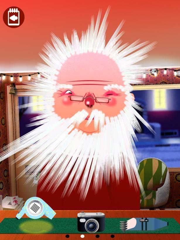 Un petit brushing pour le Père Noël !