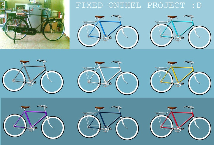Concept- Onthel Fixie | Photoshop