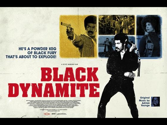 Black Dynamite movie poster #blaxploitation