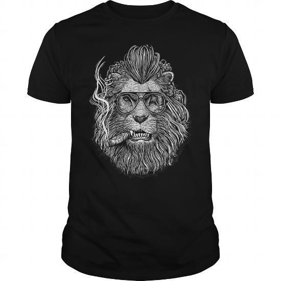 (Lion Smoking) P D D T Shirts, Hoodies. Get it here ==► https://www.sunfrog.com/LifeStyle/LifeStyle-14-Lion--Smoking--PDD-Black-Guys.html?57074 $19