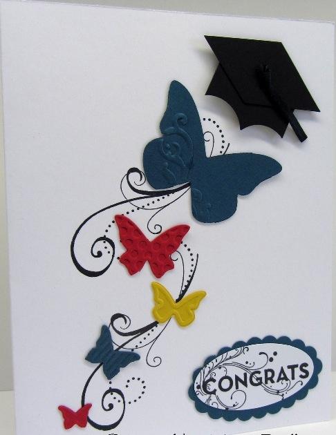 butterfly graduation card
