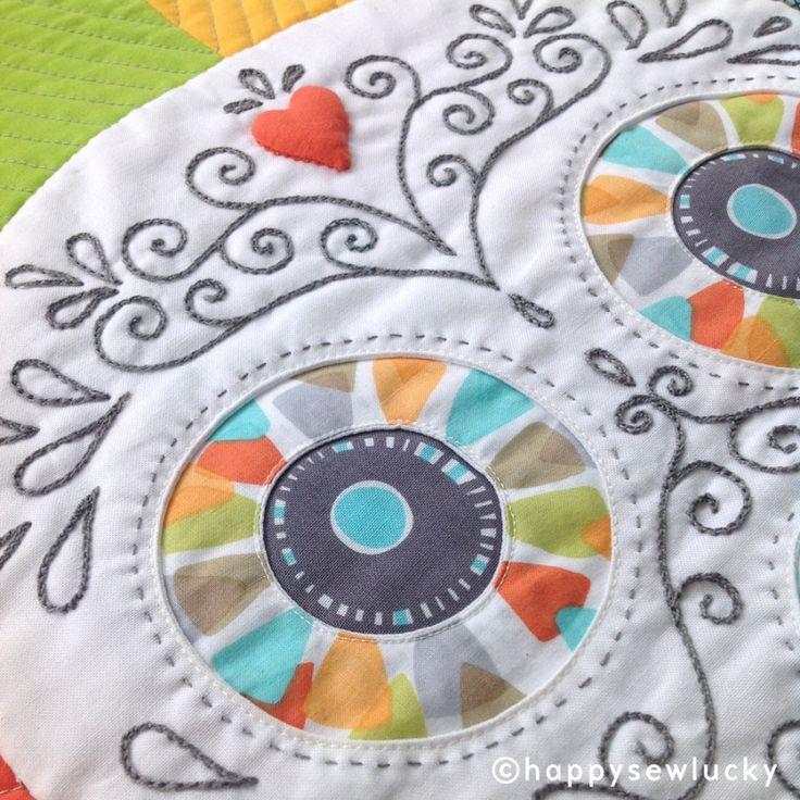 87 best Dia de los Muertos quilts images on Pinterest | Cat face ... : sugar skull quilt pattern - Adamdwight.com