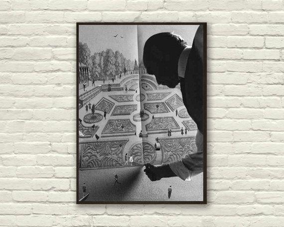 Fine Art Print / Art Poster / Collage / Park / by BoWoStudio