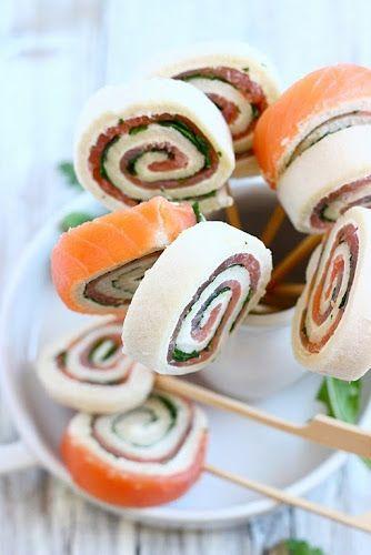 Girelle di salmone e rucola   MIEL & RICOTTA