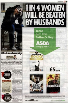 Asda in a great piece of media positioning!
