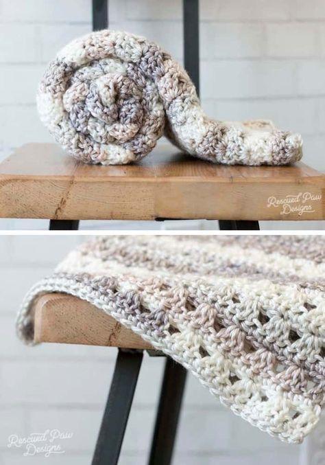 Alissa Easy Crochet Throw Blanket | punto | Pinterest | Croché ...