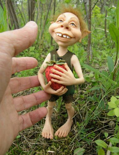 one more troll - POTTERY, CERAMICS, POLYMER CLAY