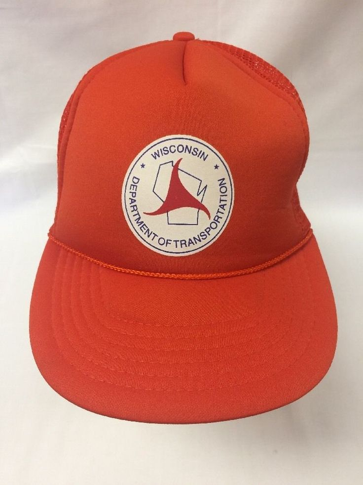 Vtg Wisconsin Department of Transportation Dot Hat Mesh Snapback Trucker Cap | eBay