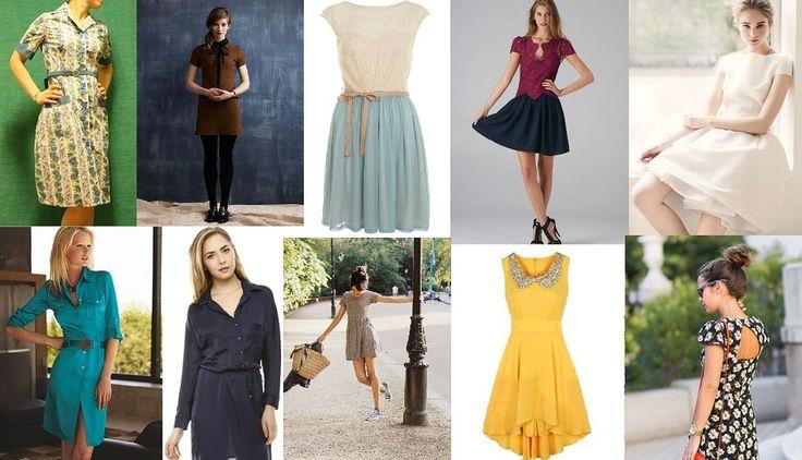 Dobrze dopasowane obcisłe sukienki z ostrymi narożnikami i mnóstwem przyciągających wzrok szczegółów. Sukienki z obniżoną talią i koszulowe - koszula pasuje, jeśli jest wąska. Dobrze przycięte kurtki i bolerka. Asymetryczny brzeg może być bardzo zabawny, zwłaszcza na wieczór. Moda lat '20 - prawdziwy unikat dla Gamine.