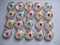 Hand geschilderd edelstenen partij gunsten mini glaskunst theepotten theepot thee potten
