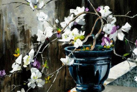 Bougainvillea painted by SA artist John Smith