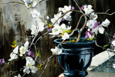 Bougainvillea painted by SA artist John Smith