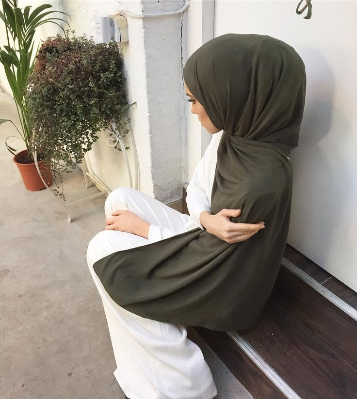 INAYAH | Non-sheer, non-slip & breathable. Washed Olive Light Rayon Hijab www.inayah.co