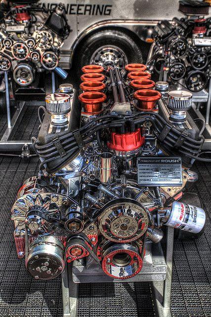 Motor Roush. Obra de arte da mecânica!!!