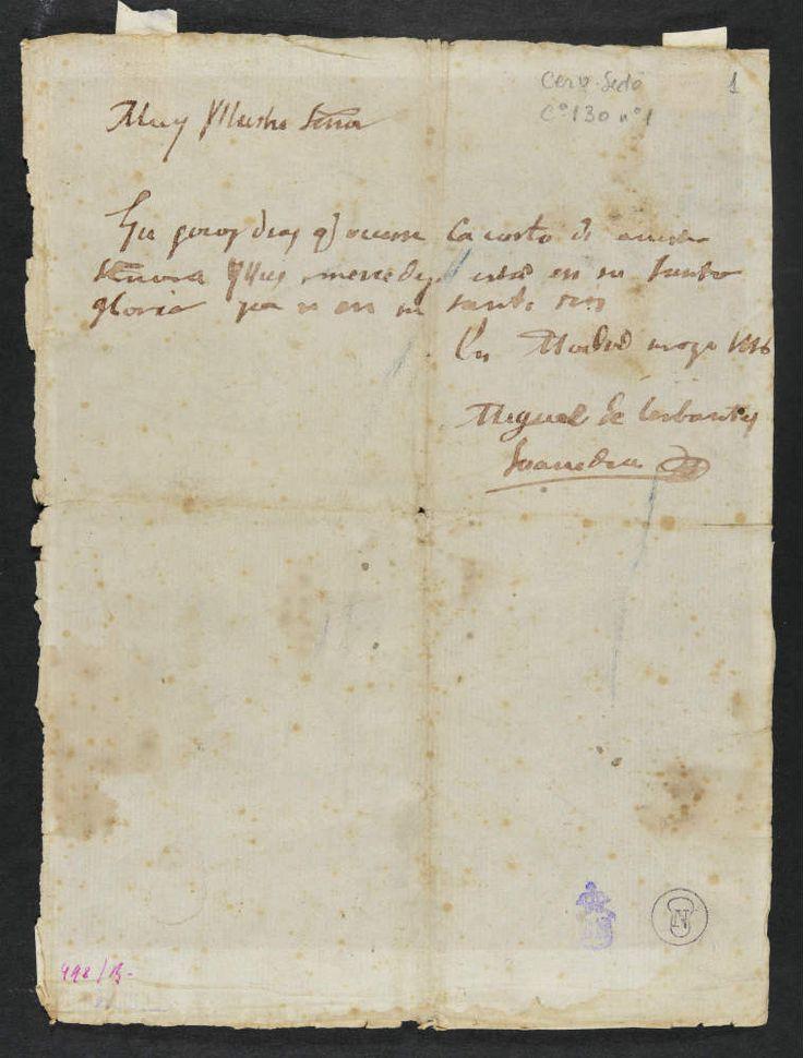 Manuscriros de  cervantes