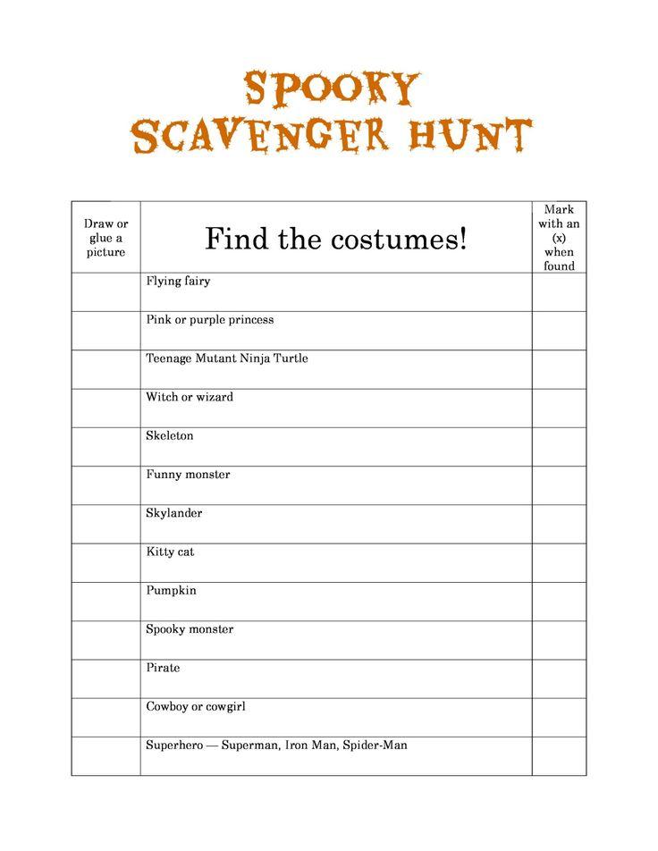 allparenting spooky scavenger hunt printable halloween ideas