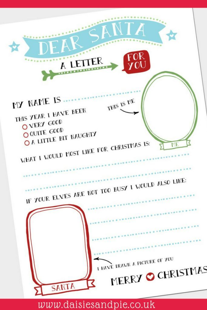 super cute free christmas printable letter to santa kids christmas activities