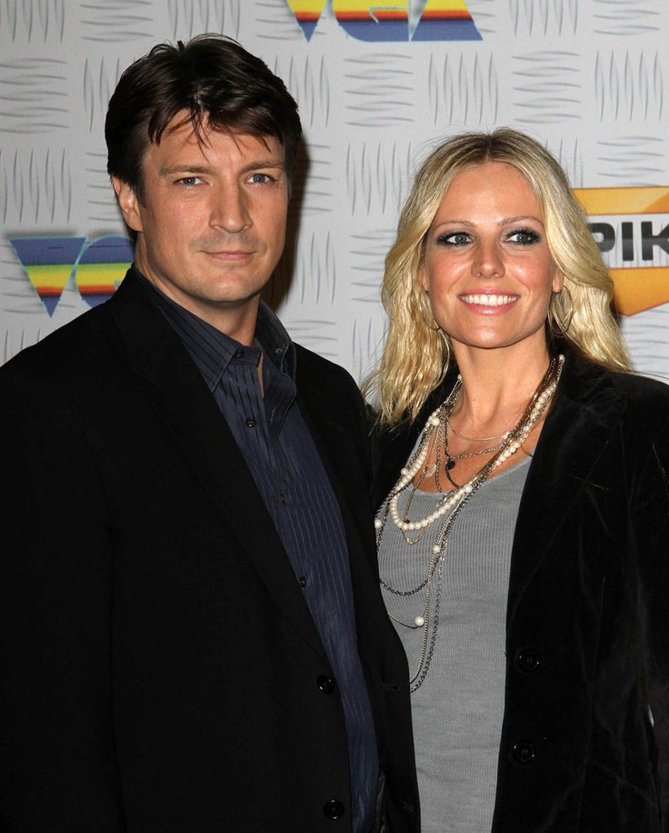 Nathan Fillion and Kate Luyben,, she is from Canada, and her brother used to play poker with me ,,,,,,,,soooooooooo