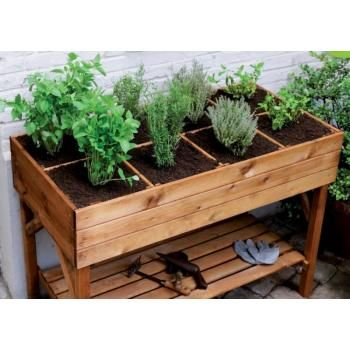 Divided herb planter box 120 x 60 x cm  sc 1 st  Pinterest & Best 25+ Wooden garden boxes ideas on Pinterest | Wooden garden ... Aboutintivar.Com