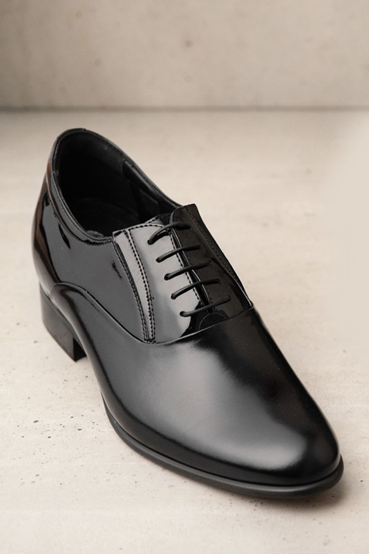 Podwyzszajace Meskie Skorzane Czarne Buty Dustin Ce0410 03 Dress Shoes Men Dress Shoes Shoes