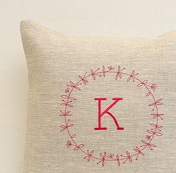 Kissen - Kissenbezug mit Monogramm Familie Namenskissen - ein Designerstück von Katrinhause bei DaWanda