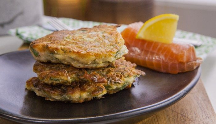 Gluten-Free Salmon and Parmesan Fritters - Good Chef Bad Chef