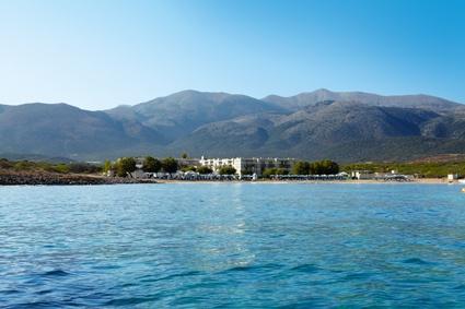 A Minoan palace reveling in a dreamy seaside setting