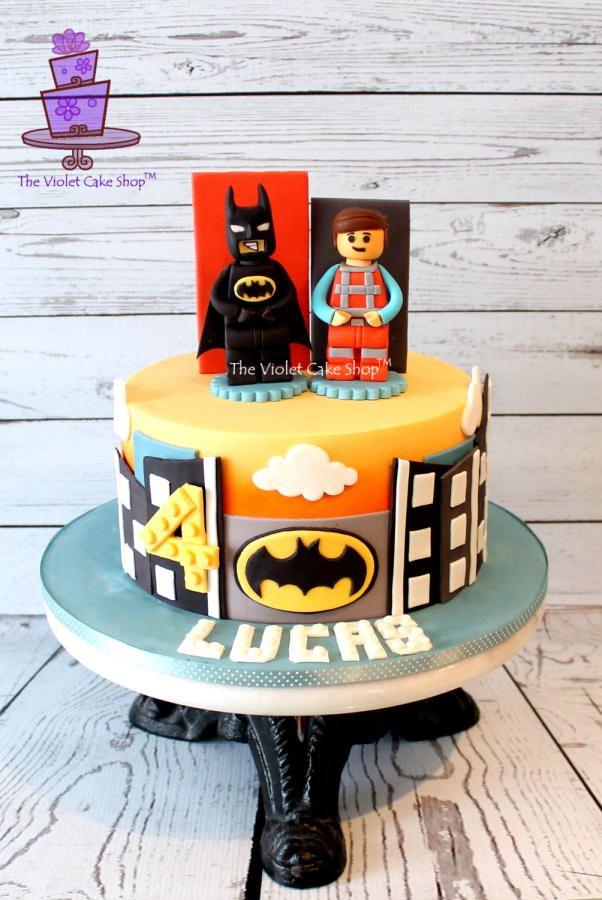 LEGO MOVIE Cake with Batman & Emmet - Cake by Violet - The Violet Cake Shop