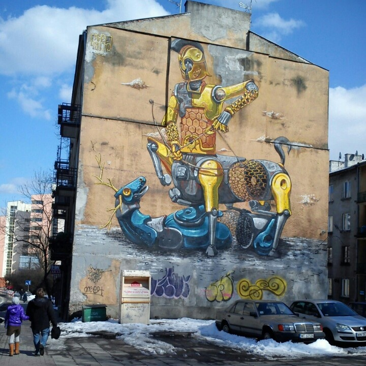 Street art- Dolna street, Warsaw, Poland/ photo: Klara Sielicka
