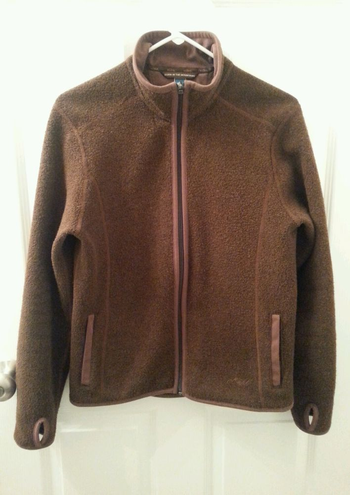 Kuhl Alfpaca Fleece Full Zip Jacket Size M Thumb Holes ...