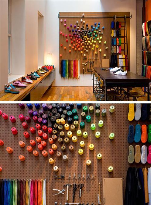 Peg wall to display color and map/location of where they cotton comes from?