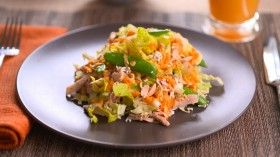 Asian Chicken Salad with Carrot Ginger Sauce | Sara Moulton | Chef, Cookbook Author, Television Personality
