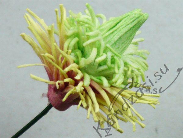 Серединка цветка с проклеенной серединкой