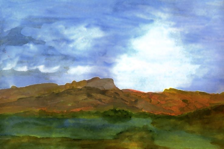 Landscape in watercolour