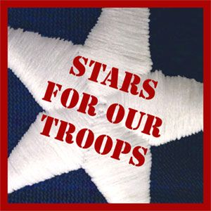 """""""Stars for Our Troops"""" takes old, tattered & worn out American Flags & turns them into prized possessions for American Service Members. Volunteers lovingly cut each embroidered star from the flag, dispose of the stripes properly & place each star into a bag with a card that reads: """"I am part of our American flag that has flown over a home in the U.S.A. I can no longer fly. The sun and winds have caused me to become tattered and torn. Please carry me as a reminder that you are not forgotten."""""""