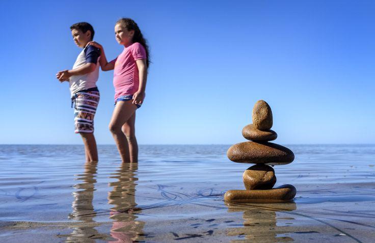 Stacked stones ... Beach creativity
