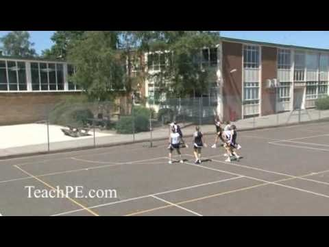 Netball Drill - Attack - 4v4 Centre Pass 1 - YouTube