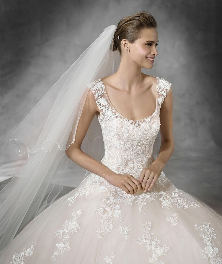 Pronovias > BIA - Princess wedding dress encrusted with gemstone embroidery