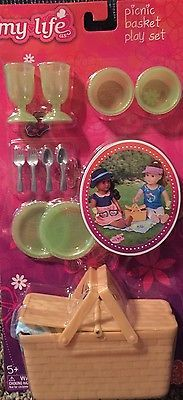 My Life As Picnic Dinerware Plates  Doll Fits American Our Generation Girl 18""