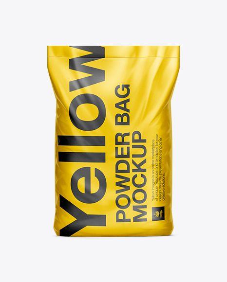 10kg Powder Bag Mockup. Preview