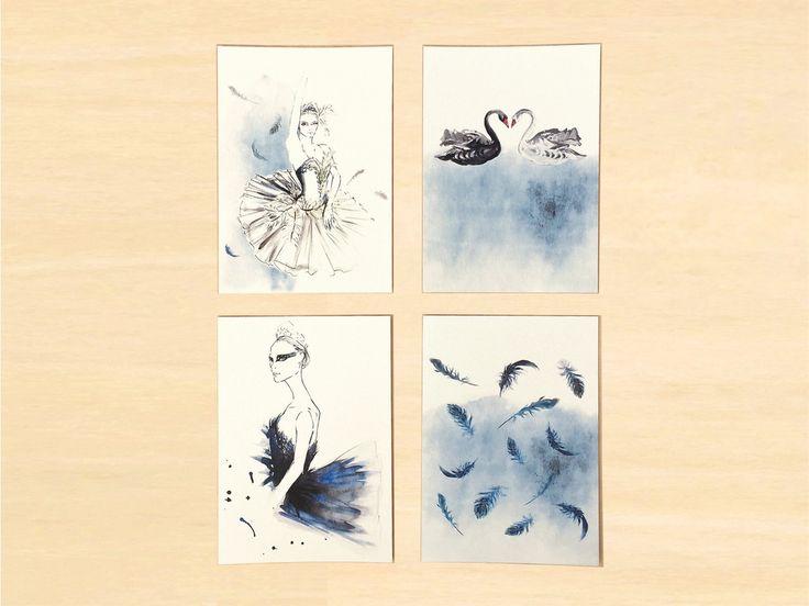 Black Swan Postcard Set